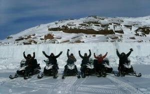 Skidooing in the Arctic