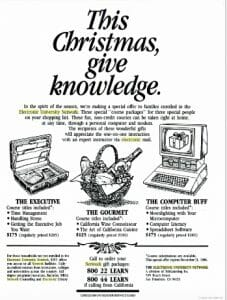 1985 Advertisement for the Electronic University Network