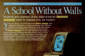 1985 article about the Electronic University Network published in PC Magazine.