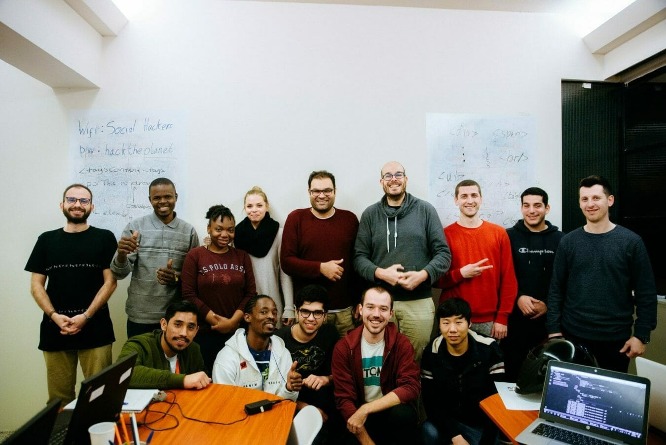 team picture of social hackers academy