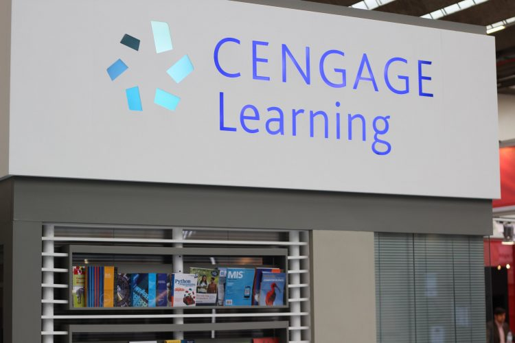 A display of Cengage Learning Products.