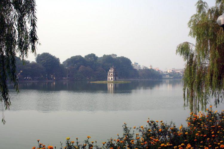 Hoan Kiem Lake in Hanoi.