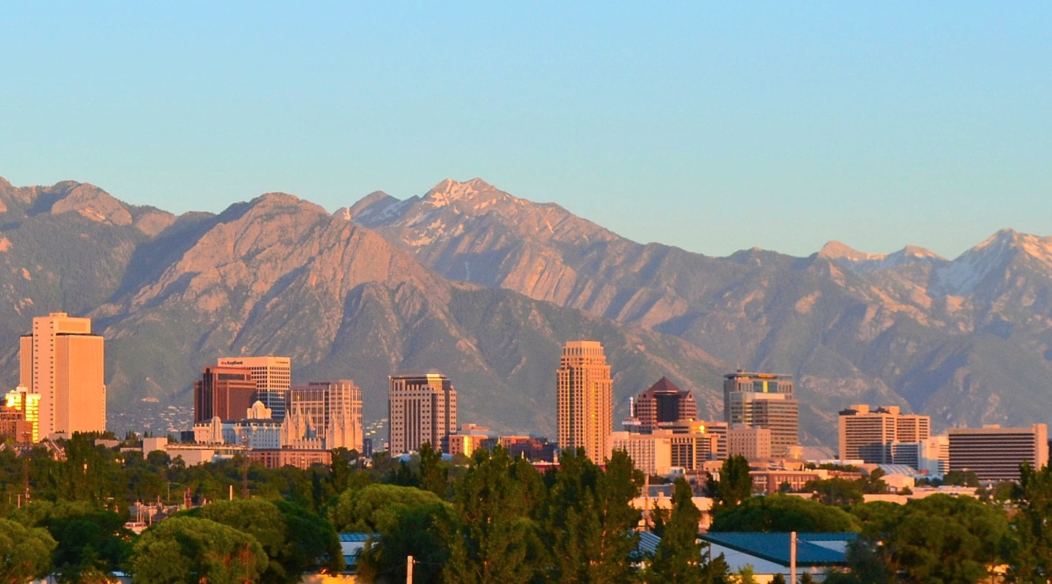 The Salt Lake City skyline, where Instructure is based.