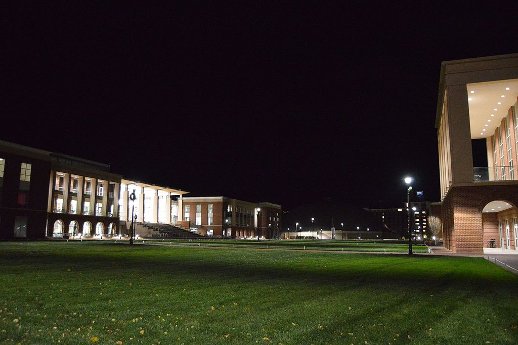 Liberty University campus at night