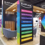 A Kaplan Professional booth at FPA Congress 2018