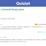 A view of Quizlet Learning Assistant's natural language processing capabilities in action.