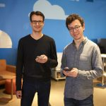 Duolingo co-founders Severin Hacker (left) and Luis von Ahn